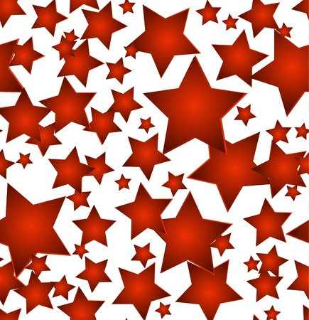 Red stars - seamless vector christmas background Stock Vector - 15774422