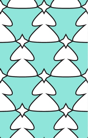 Seamless christmas background - white christmas tree vector Illustration