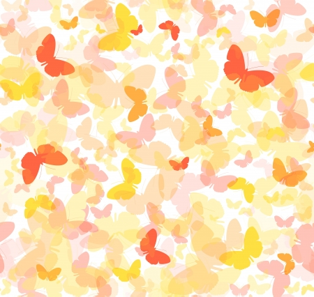 Seamless vector background - colorful butterflies