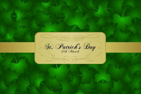 st  patrick day: St  Patrick Day background - green shamrock