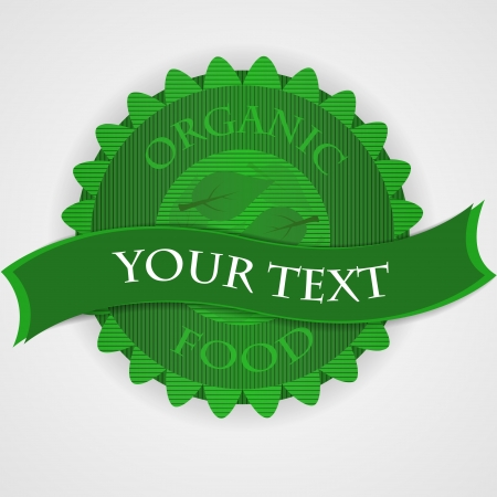 Green stamp on white - sample text Stock Vector - 18227560
