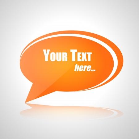 Your text orange vector talk bubble Stock Vector - 18780837
