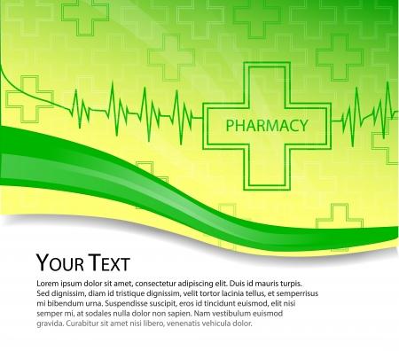 Farmacia de fondo vector