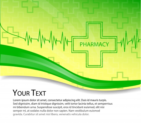 Pharmacy vector background Vector