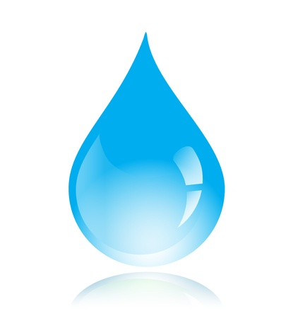 Blue vector isolated water drop