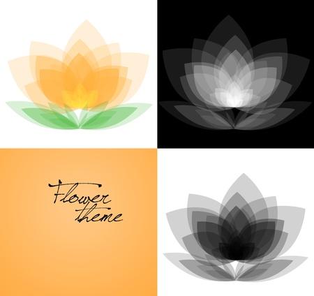 variations set: Vector background variations set - orchid