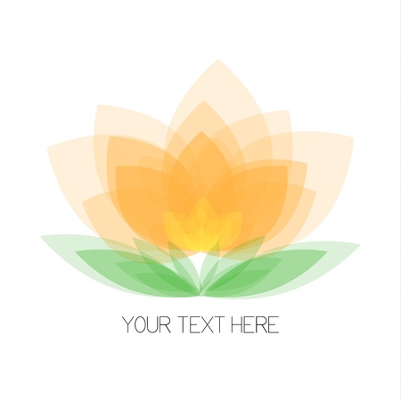 yellow orchid: Your text beautiful vector flower on white background Illustration