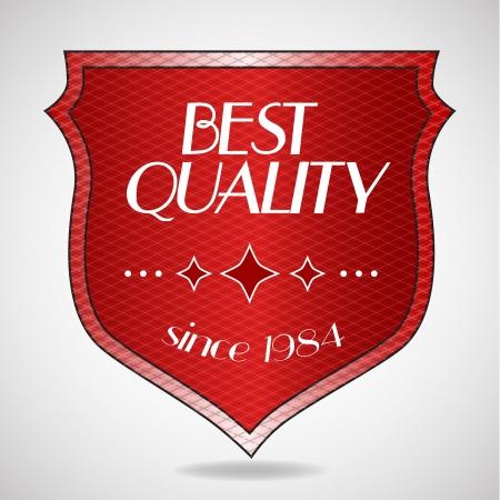 Vector de mejor calidad etiqueta roja Vectores