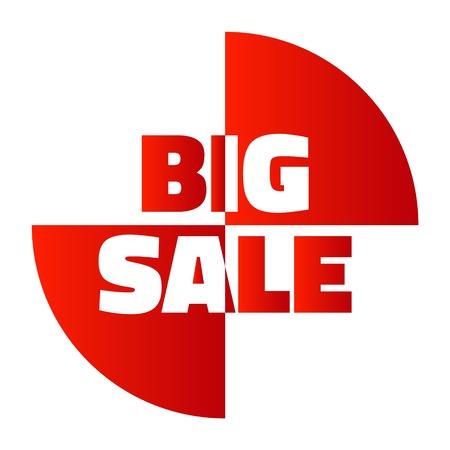 Vector gran venta rojo