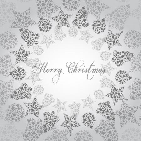 Ilustraci?n del vector - feliz navidad, muchos ornamentos grises peque?os