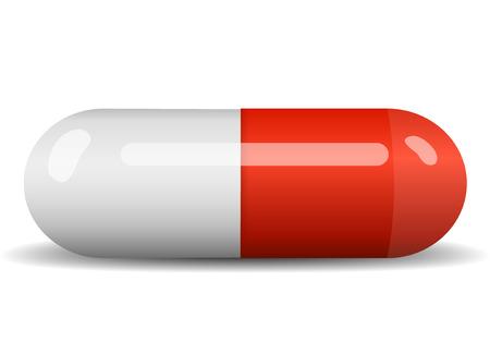 Rode vector capsule op wit