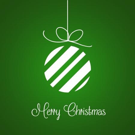Fondo de la Feliz Navidad vector en verde Vectores