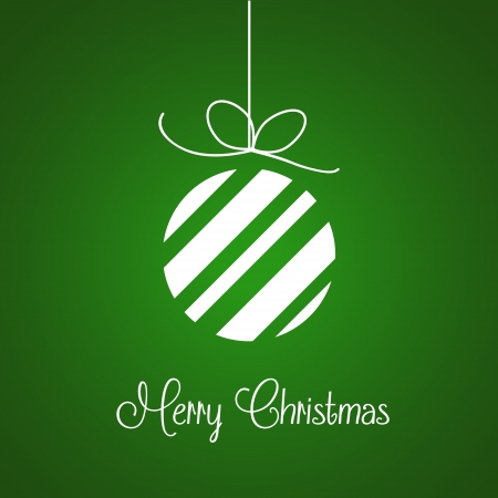 Merry Christmas vector background in green Vector
