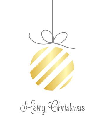 Fondo de la Feliz Navidad vector de oro sobre fondo blanco