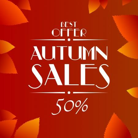 Autumn sales vector background Vector