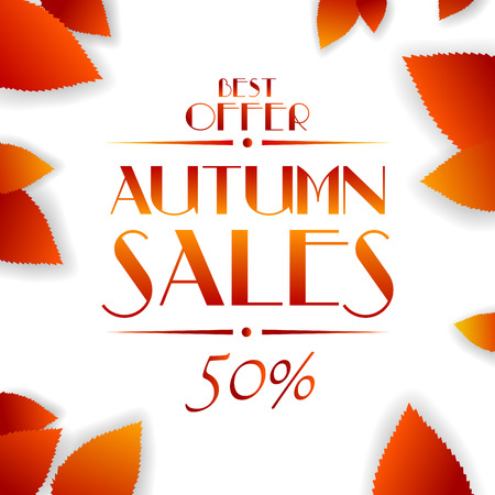 Autumn sales vector background Vector