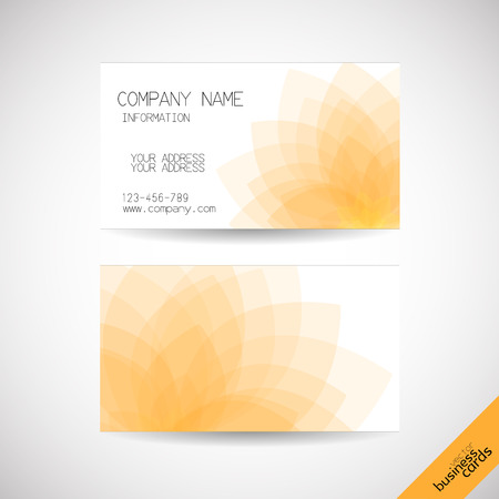 Vector business cards with abstract lotus background, front and back Vector