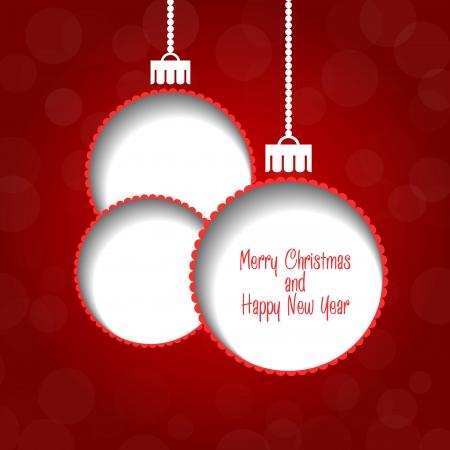 Vector de fondo de Navidad - adornos con texto
