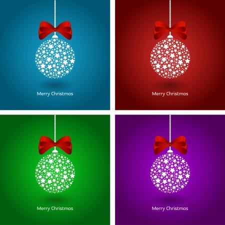 Cuatro fondos de la Navidad - chucher�as con las cintas