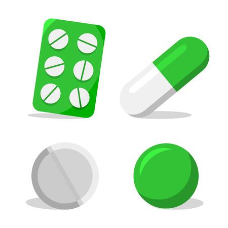 pilule: C�psula, blister con pastillas, pastillas y c�psulas blandas en verde