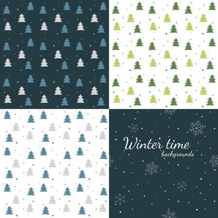 Fondos de invierno oscuro y la luz - �rboles y nevadas