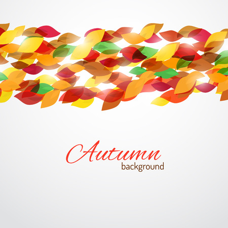 autumnal: Vector background for your text with autumnal elements