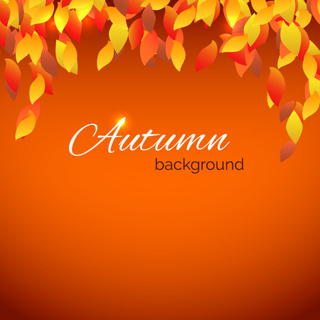 fall border: Colorful leaves with place for text