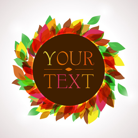 autumnal: Autumnal leaves and place for your text