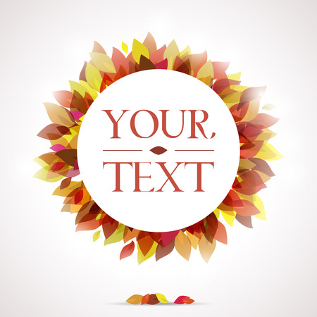autumnal: Autumnal background for your text