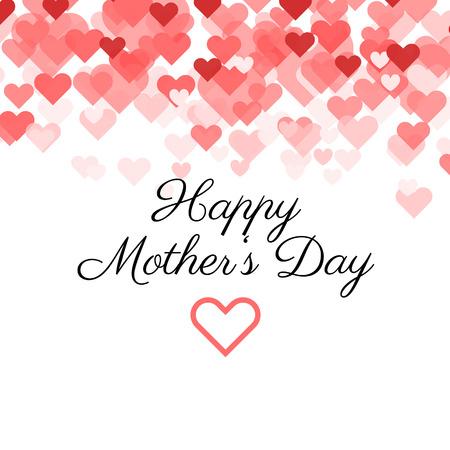 Mothers Day vector kaart.