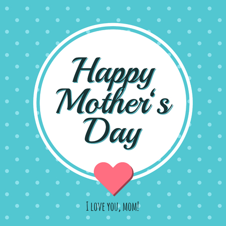 Mother�s Day greeting card. Illustration