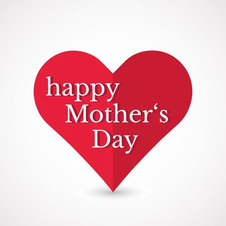 De Dag van moeders hart. Stock Illustratie