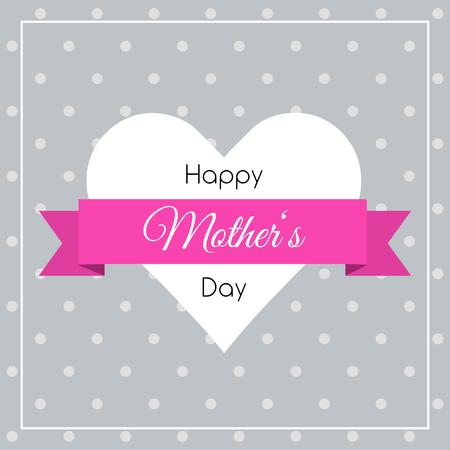 Gelukkig poster Dag van Moeders. Stock Illustratie