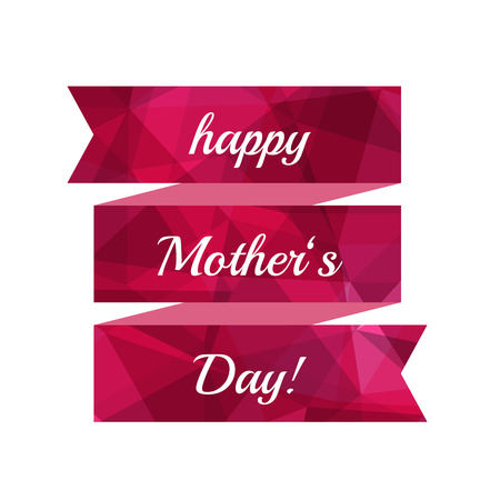Mothers Day ribbon, isolated.