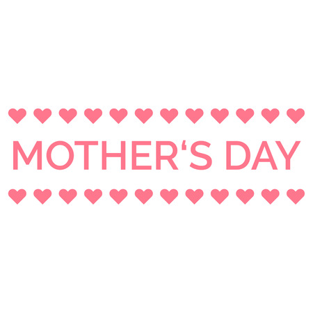 Mothers Day design element.