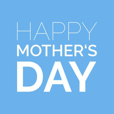 De gelukkige Dag van Moeders wenskaart.