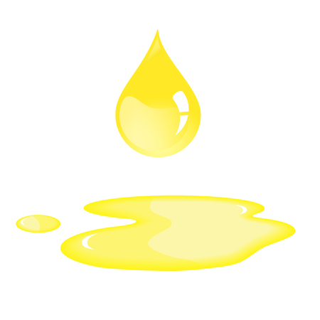 Oil drop of sunflower oil.