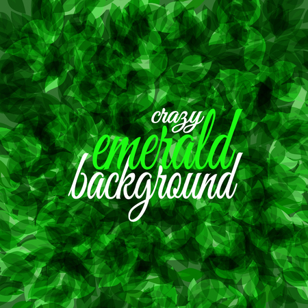 Crazy emerald design. Green background element for your design.