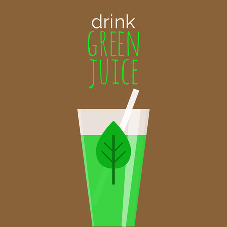 Drink groene sap - motivatie poster.