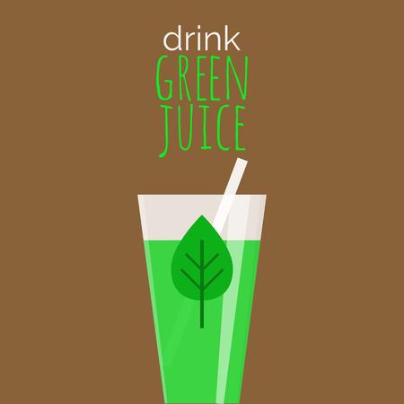 Drink green juice - motivational poster.