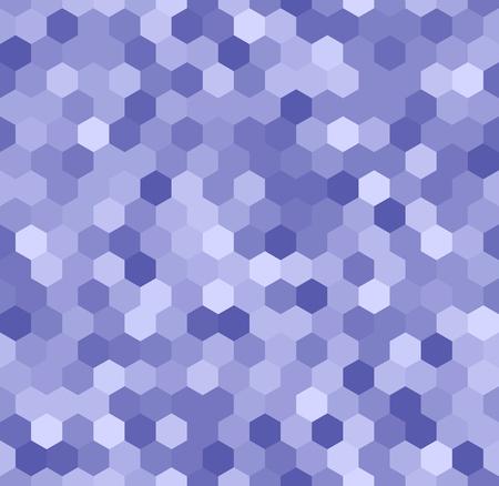 Hexagonaal patroon in de kleuren blauw. Vector illustratie geschikt voor technische onderwerpen of behang.