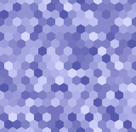 Hexagonal pattern in the shades of blue. Vector illustration suitable for technical topics or wallpaper.