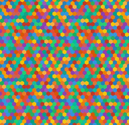 Gek kleurrijk hexagonaal patroon, vintage stijl. Vector naadloze design ziet er goed uit als een wallpaper.