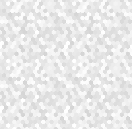 Shiny and glittery seamless pattern made of white, silver and grey hexagonal tiles. Seamless vector illustration, can be used as a wallpaper. Luxurious feel.