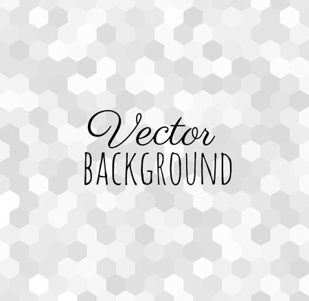 Grijze vector abstracte achtergrond gemaakt van zeshoekige tegels. Modern digitaal en glitterend luxueus design. Stock Illustratie