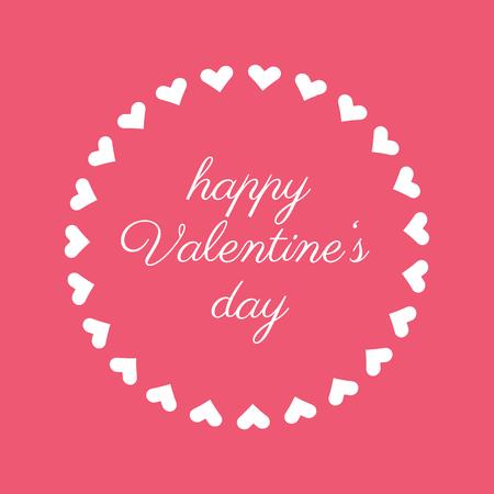Happy Valentines Day background in pink