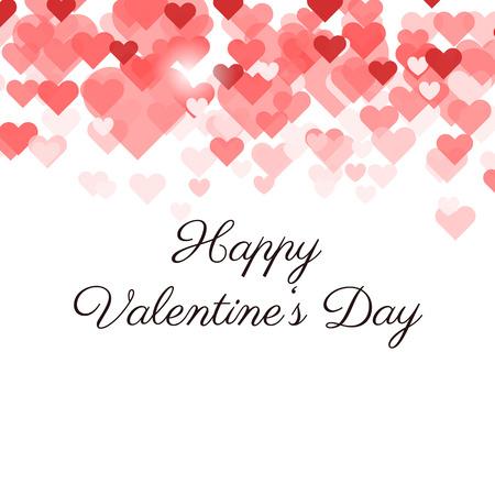 Valentijnsdag gift card met hartjes Stock Illustratie
