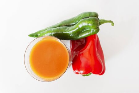 andalusian gazpacho isolated on white background