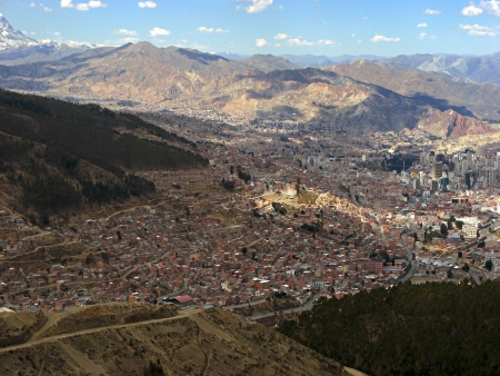 View of the city La Paz in Bolivia photo