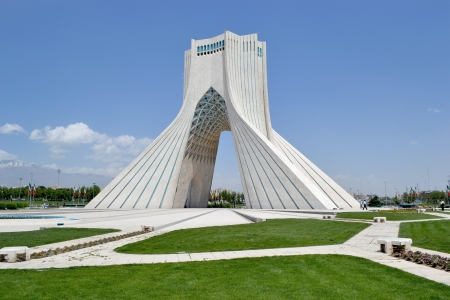 Tehran, gateway, Azadi monument, built on the anniversary of the Persian Empire Editorial